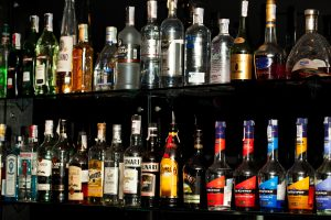 Bottles at the bar